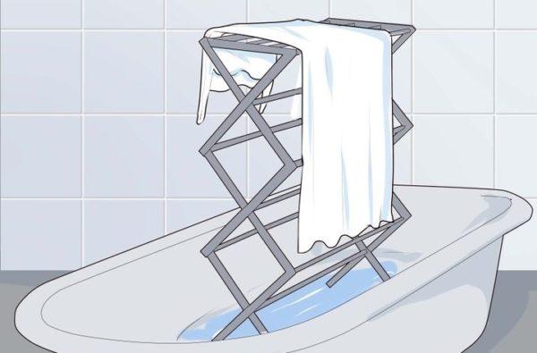 Как отпарить над ванной