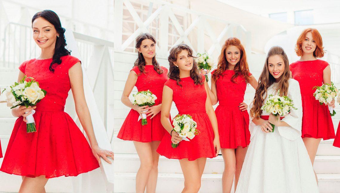 Как выбрать красивые платья для подружек невесты