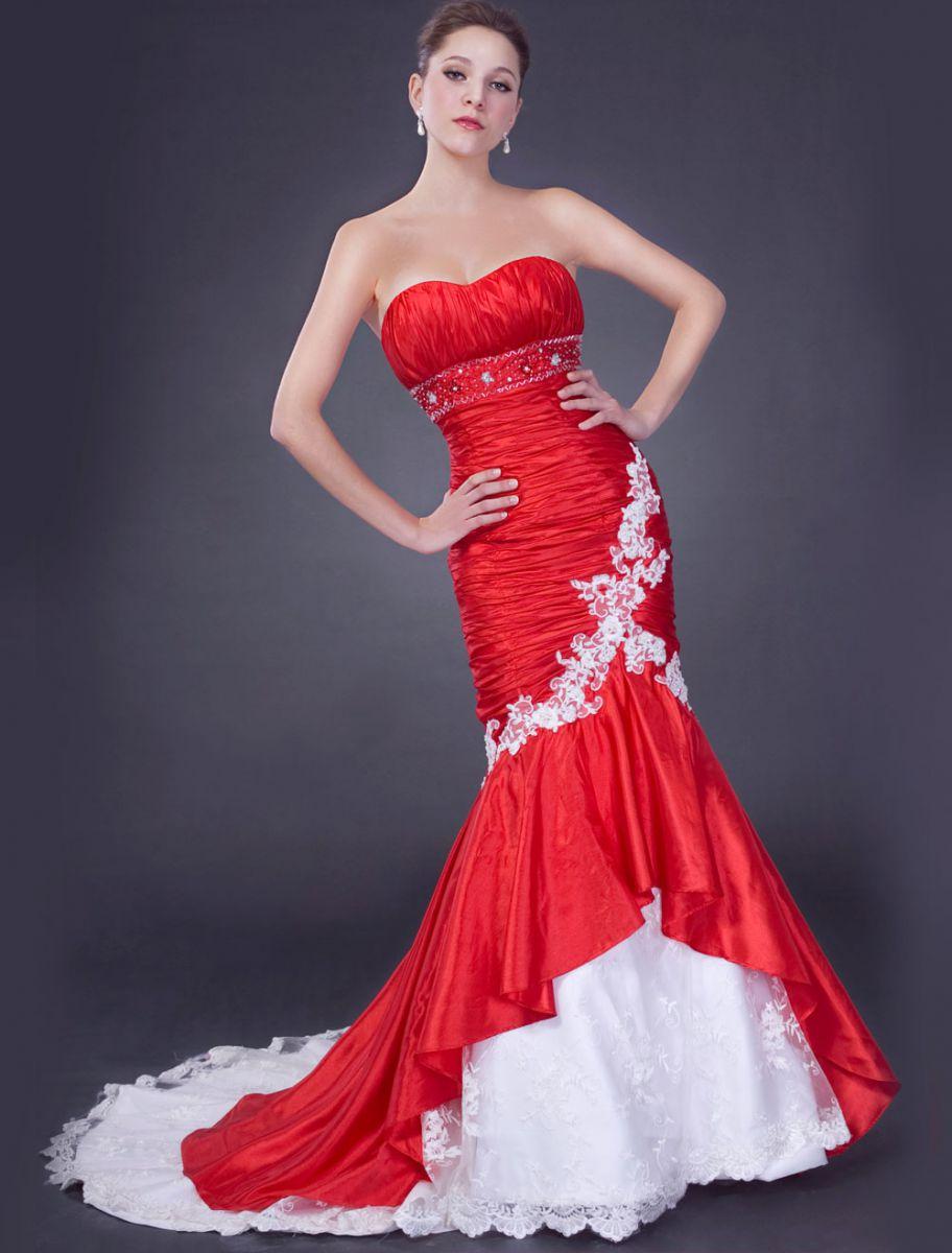 Как выбрать красное свадебное платье