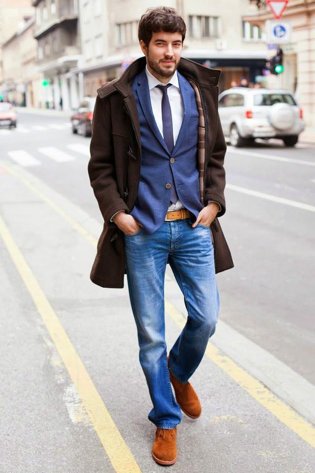 Классический вариант с джинсами