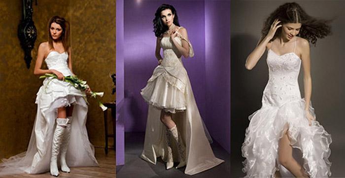 Комбинированная длина платья для невесты