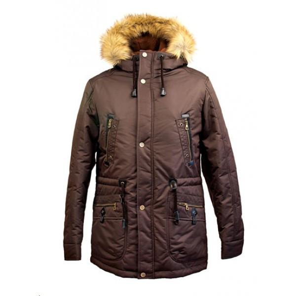 Коричневая зимняя верхняя одежда