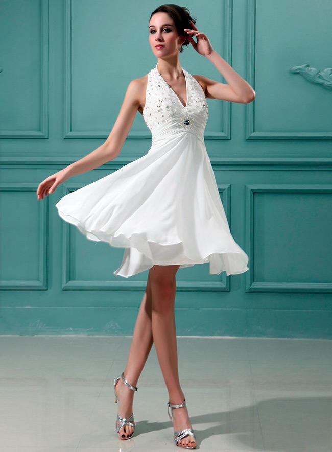 Короткие, но роскошные свадебные платья