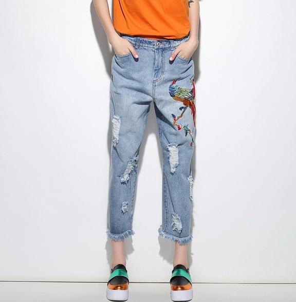 Короткие широкие штаны