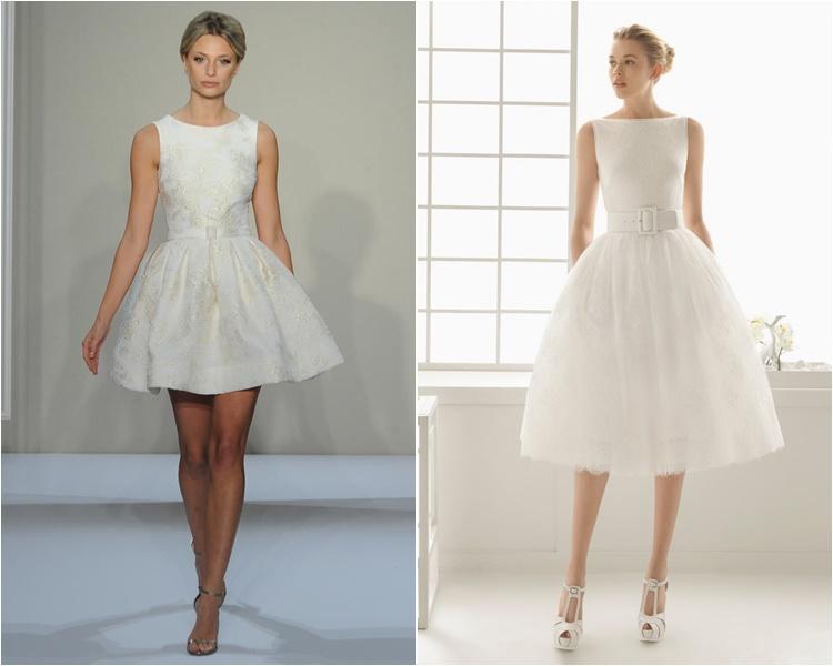 Короткие свадебные платья - популярная новинка