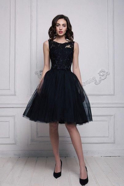 Короткое платье черное для свадьбы