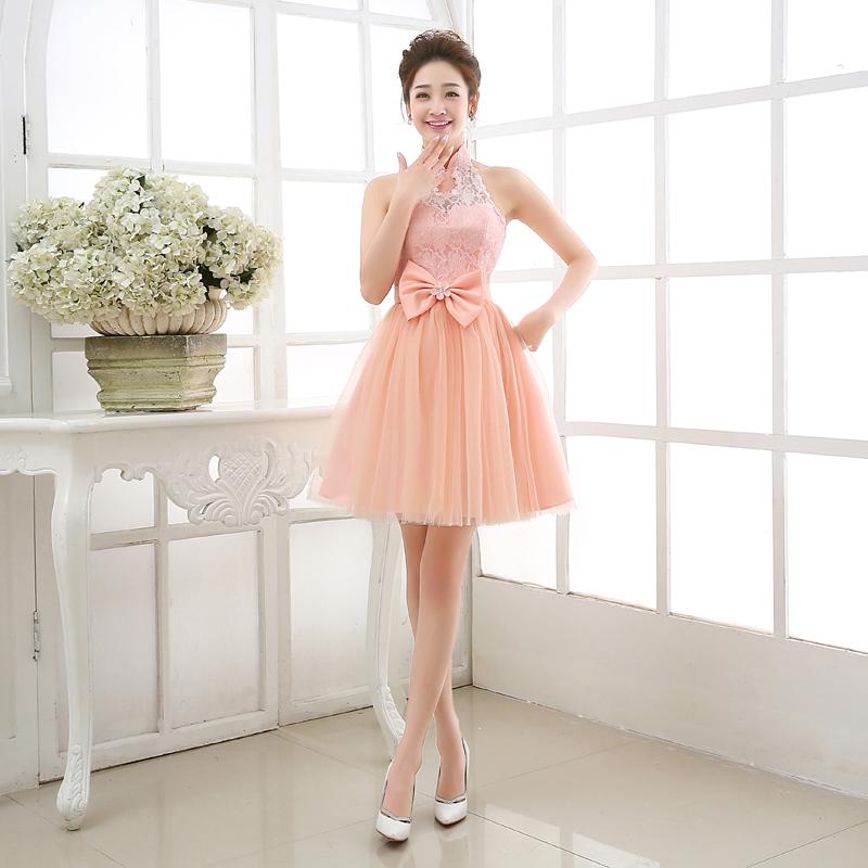 Короткое платье для свидетельницы