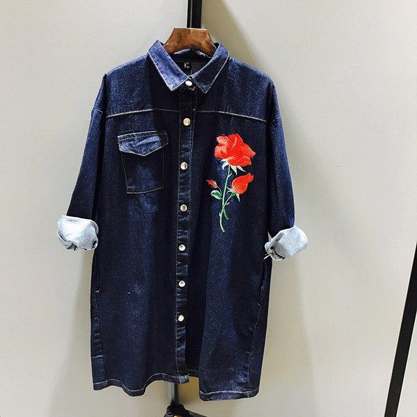 Короткое темное джинсовое платье