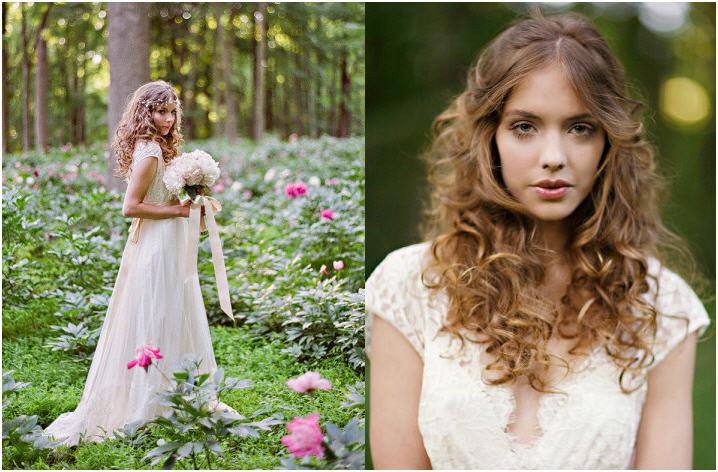 Красивая прическа невесты