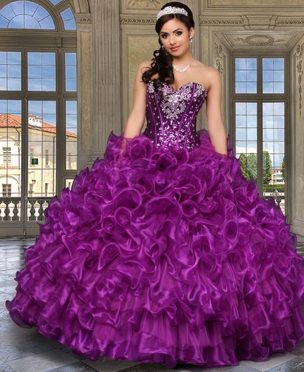 Красивое бальное платье