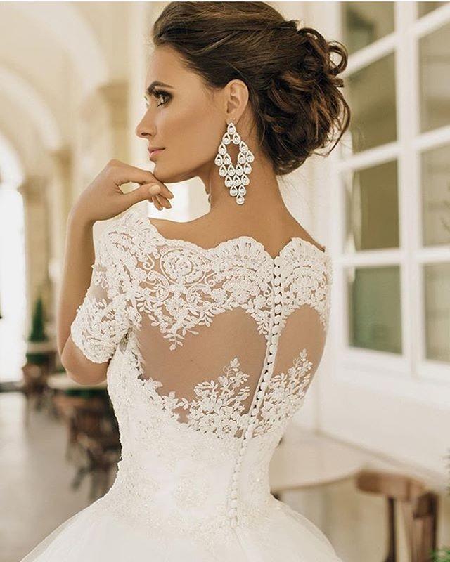 Красивые спинки свадебных платьев