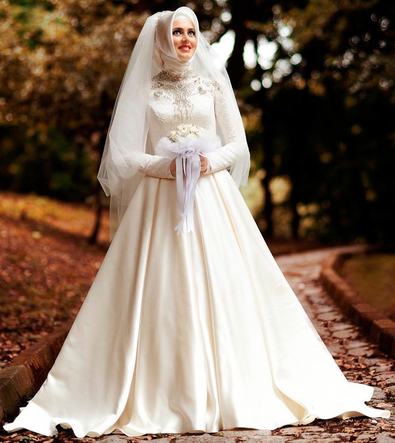 Красивый свадебный хиджаб
