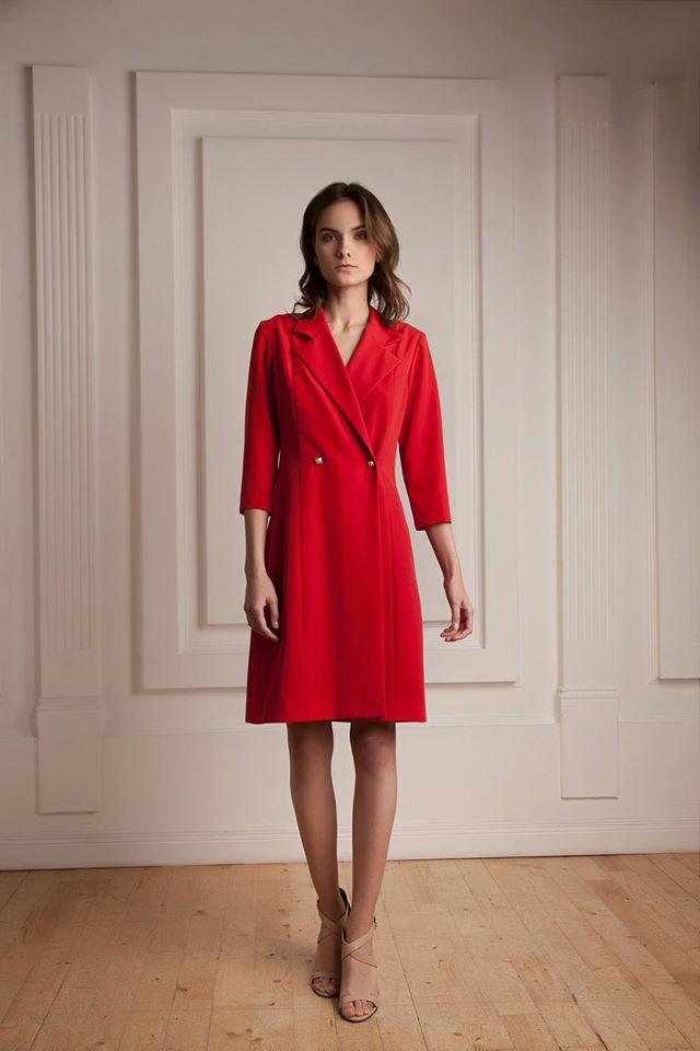 Красное платье-пиджак