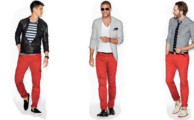 Красные оттенки одежды