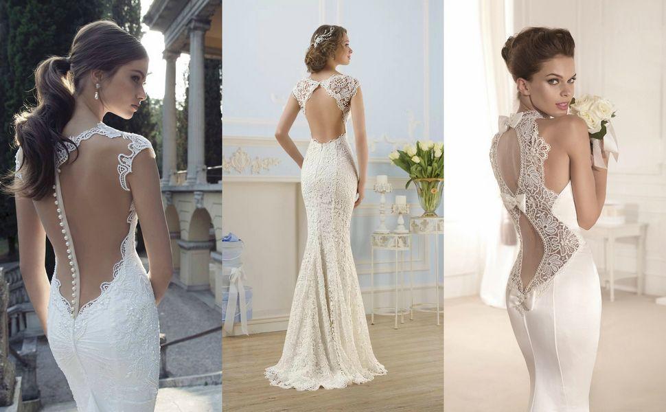 Кружевные облегающие свадебные платья