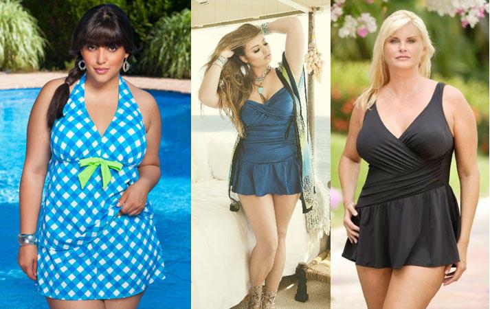 Купальники платья для полных женщин с животом