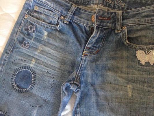 Латки на джинсах