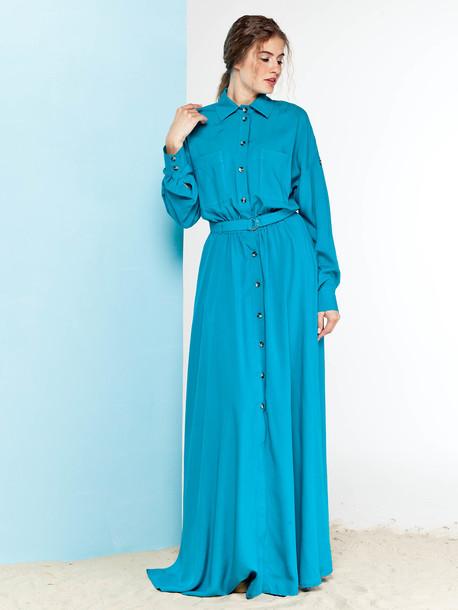 Лекси платье аквамарин