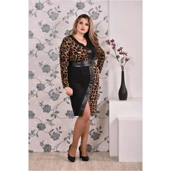 Леопардовые элементы на платье