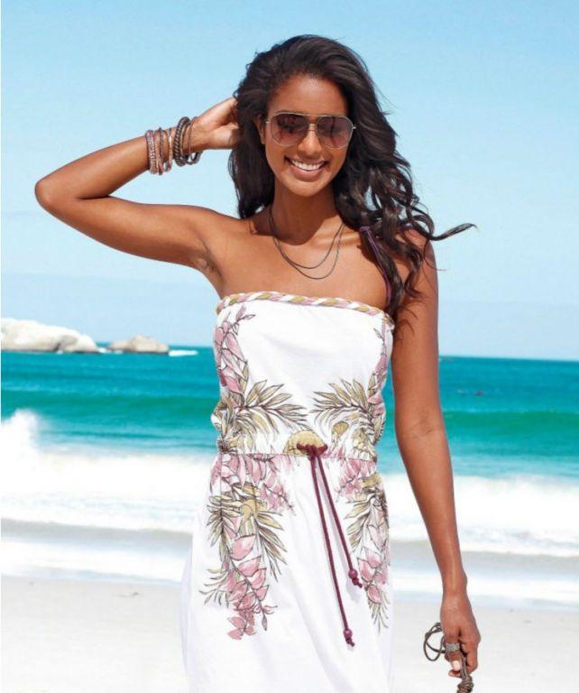 Летнее пляжное платье