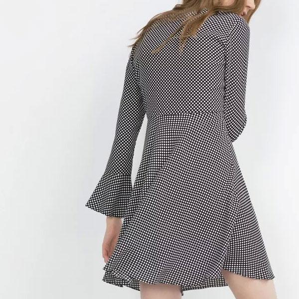 Мелкая клетка на платье