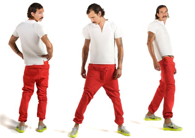 Мешковатые красные джинсы для мужчин