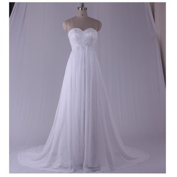 Модель платья для свадьбы с открытым верхом