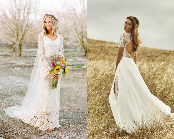 Модельеры украсили платья изумительными кружевными цветочными мотивами