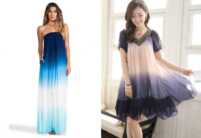 Modnoe-ombre Платье трапеция - стиль 60-х снова в тренде, 365 фото