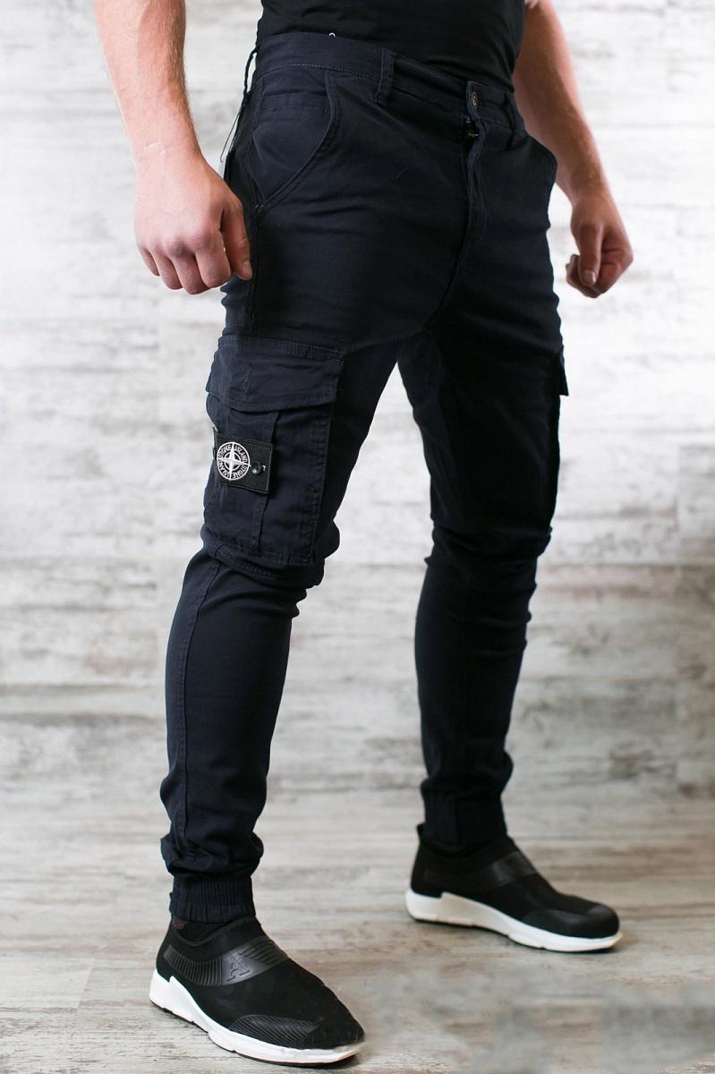 Модные мужские штаны с карманами