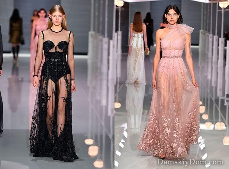 Модные вечерние платья весна