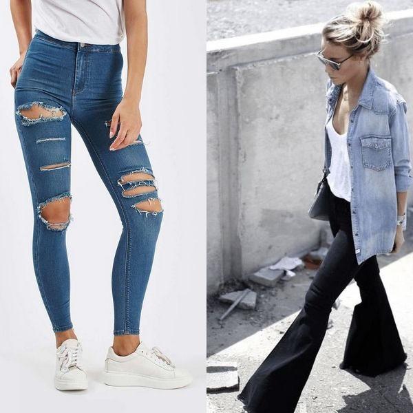 Модные женские джинсы на 2018