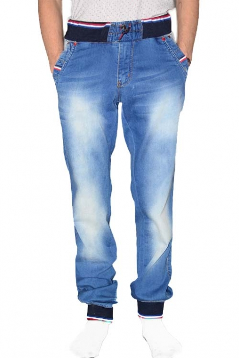 Молодежные джинсы с резинками