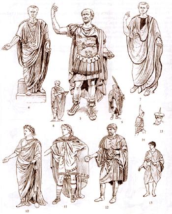 Мужская одежда в Риме