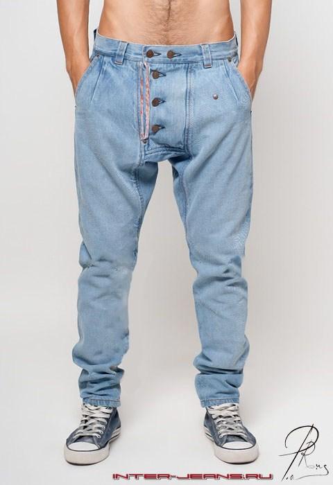Мужские джинсы галифе, с мотней