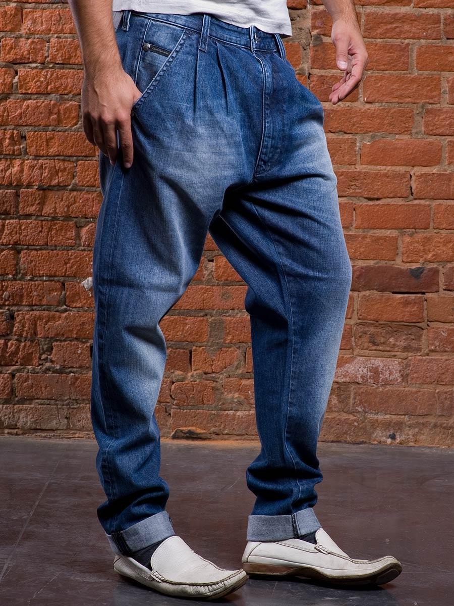 Мужские джинсы с висячей проймой