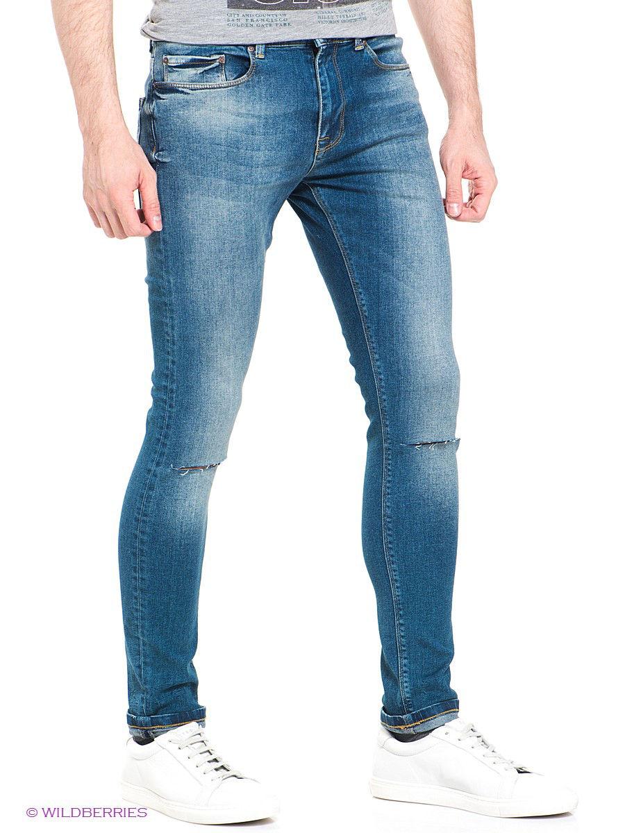 Мужские осенние облегающие рваные джинсы кэжуал