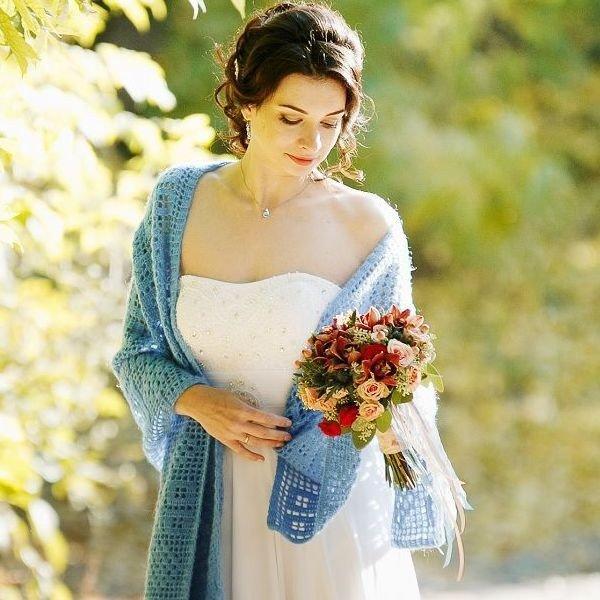 Накидка в синем цвете