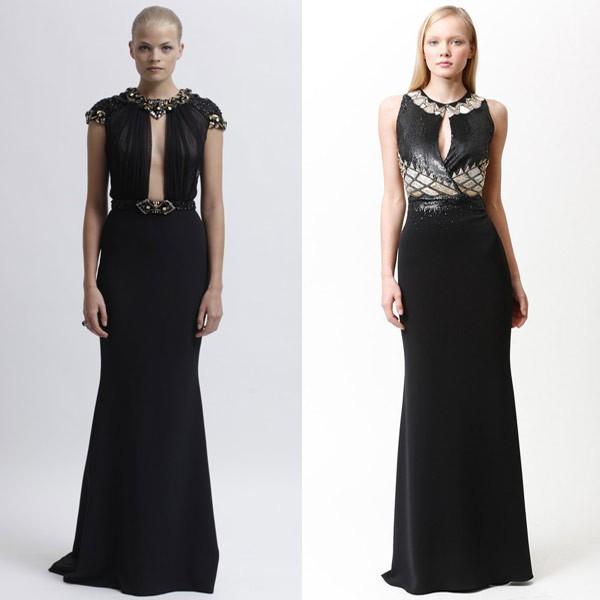 Необычное черное платье в греческом стиле