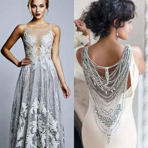 Необычный оттенок свадебного платья