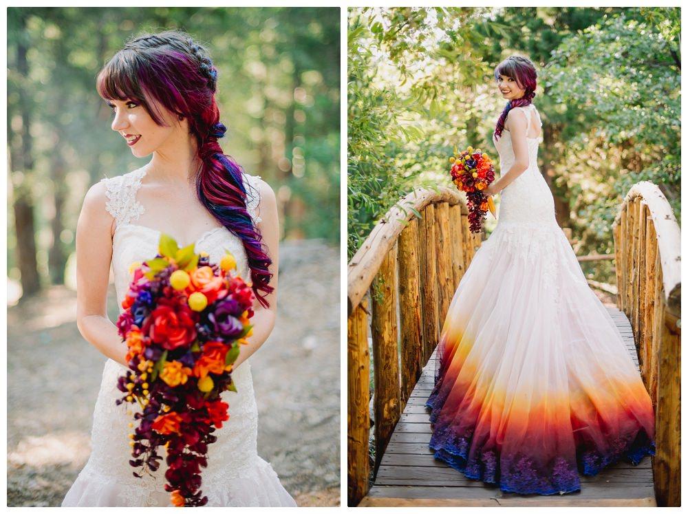 Невеста раскрасила платье