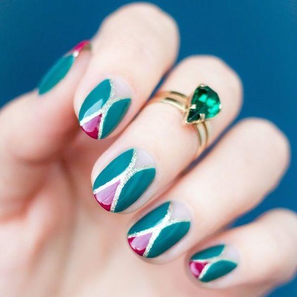 Ногти цвета капусты