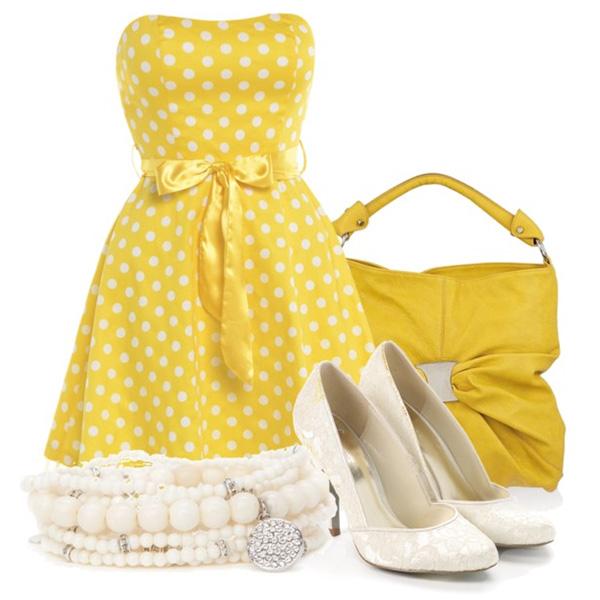 Образ с желтым платьем