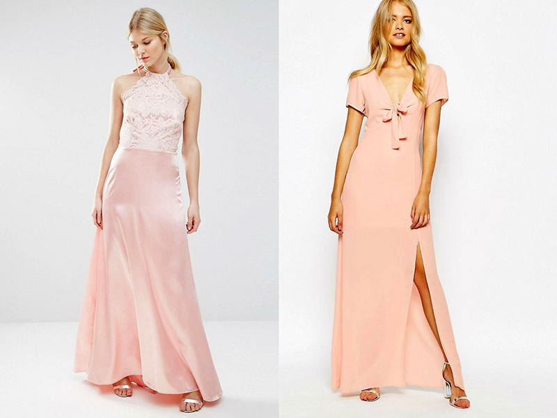 Образы с розовым платьем