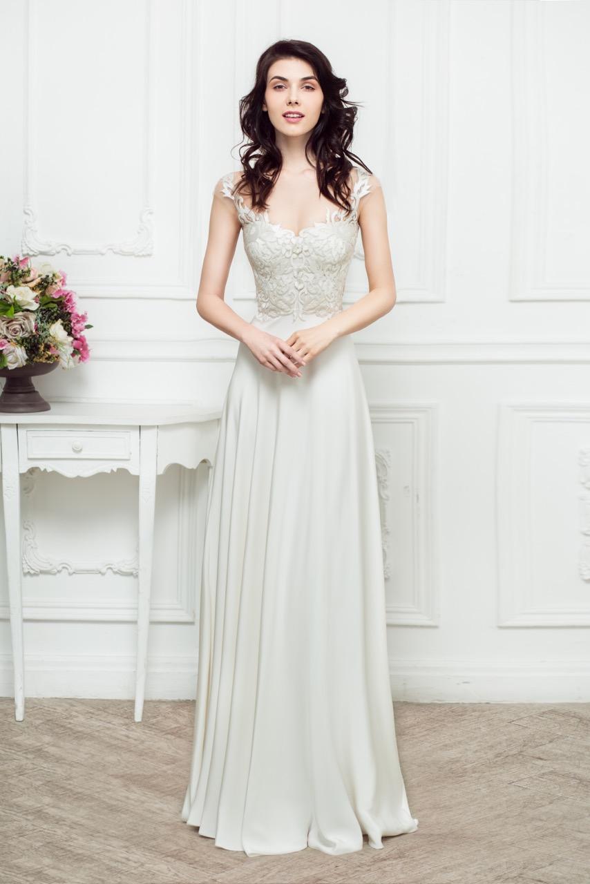 Очень легкое свадебное платье