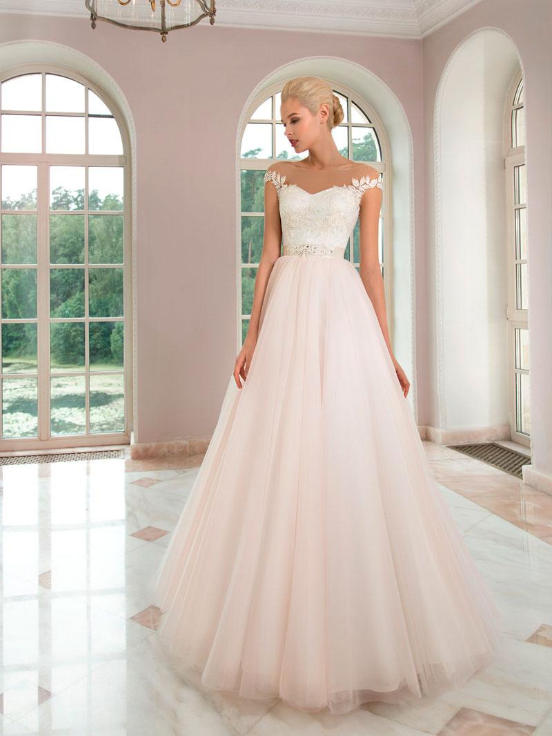 41676ca42bac6d8 Пудровое свадебное платье, разнообразие фасонов и моделей