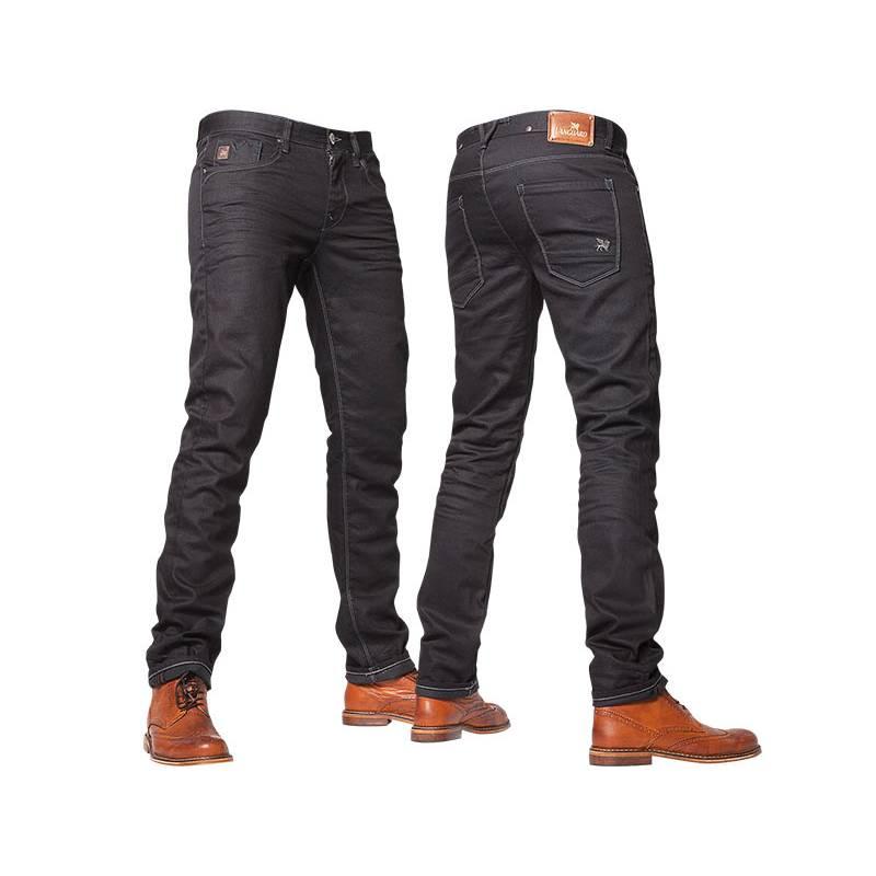 Однотонные темно-синие мужские штаны