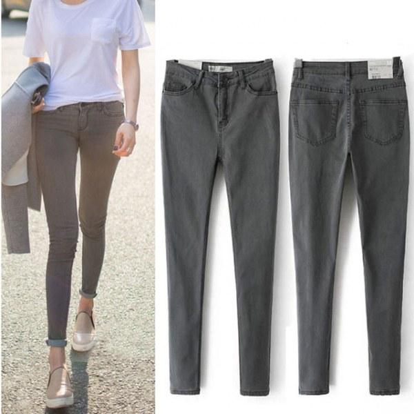 Особенности применения узких джинсов