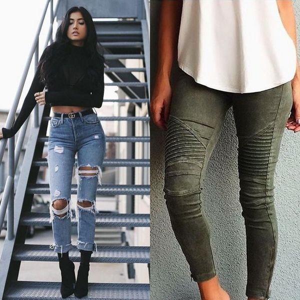 Оттенки модных фасонов джинсов