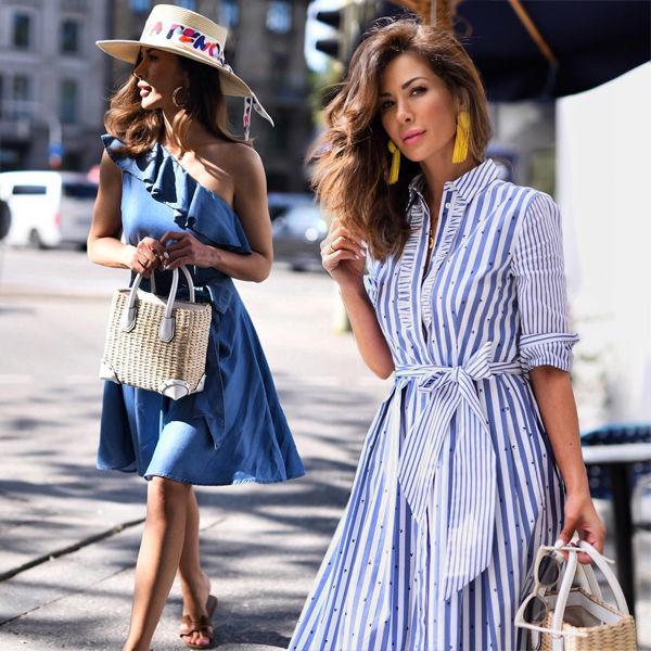 Платье А-силуэта для лета